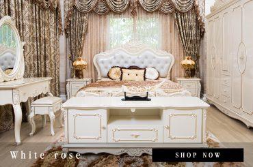 ชุดห้องนอนหลุยส์ White Rose
